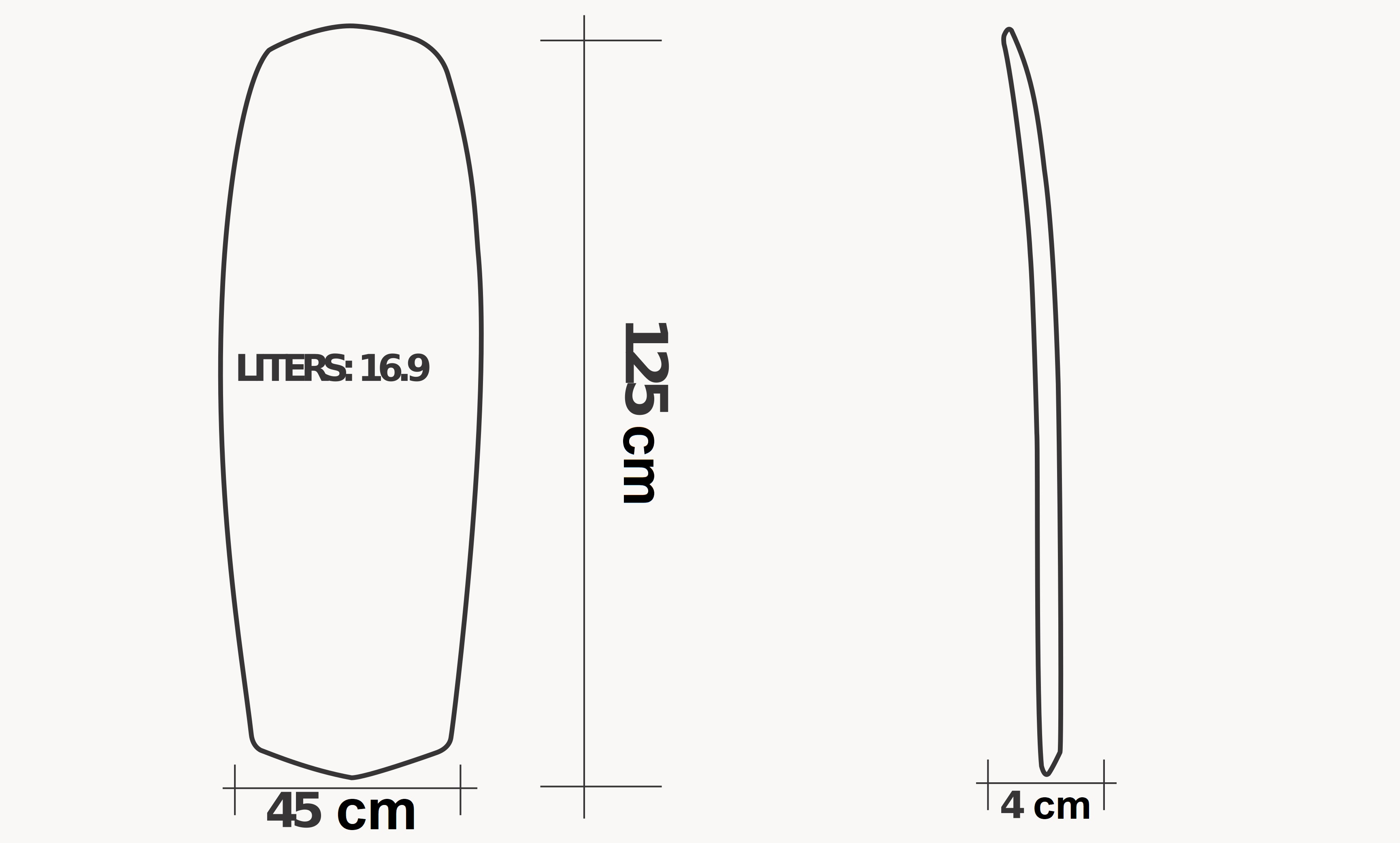 Board T38 Carbon Rail Kite specs