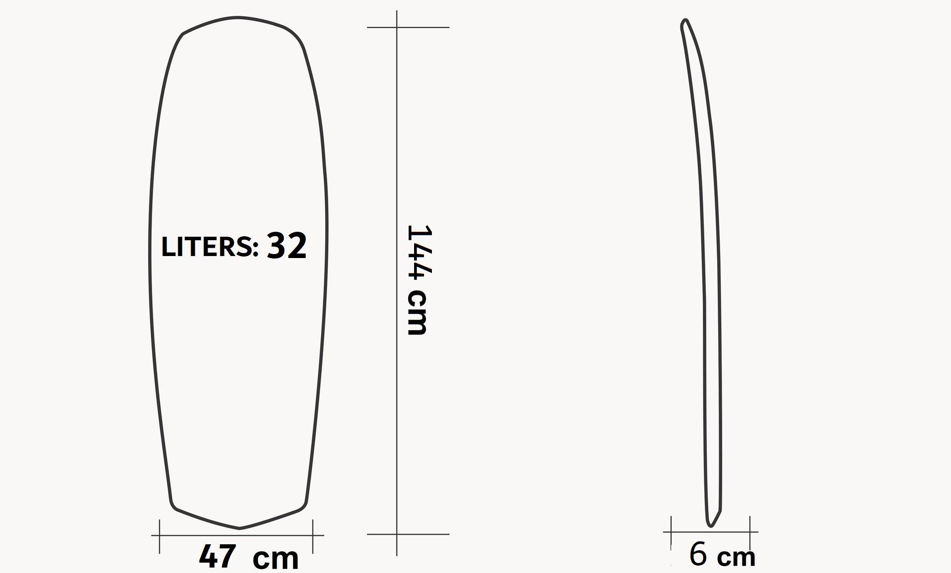 Board T65Y Carbon Rail Kite YOUTH FOIL CLASS IKA specs
