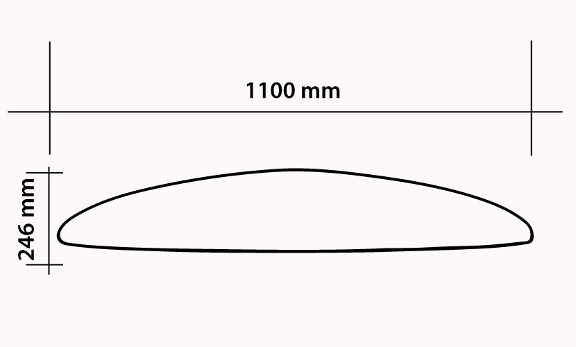 Front Wing 1100 Surf / Wing - 2100 cm2 specs