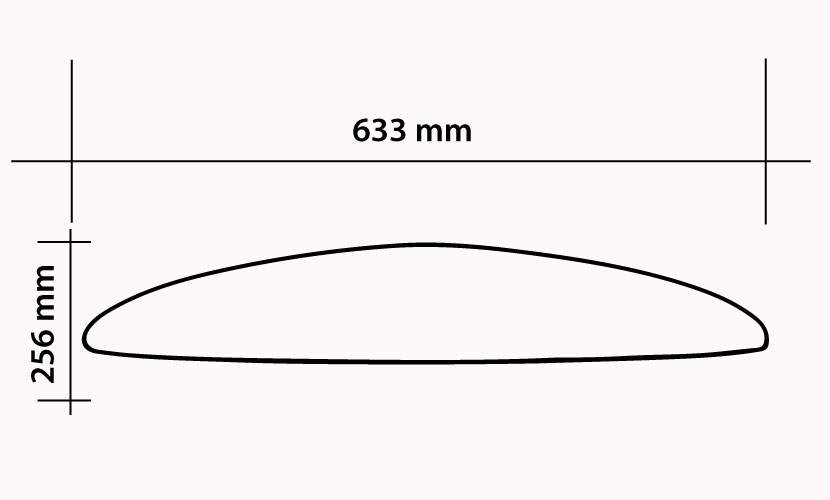 Front Wing 633 Kite / Surf - 1250 cm2 specs