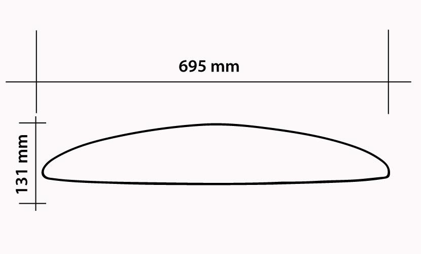 Front Wing 695 Kite - 770 cm2 specs