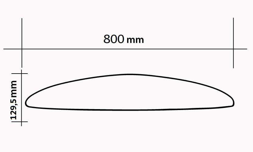 Front Wing 800 Slalom Race Surf / Wing / Wind - 840 cm2 specs
