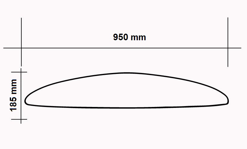 Front Wing 950 Surf/Sup/Wing/Windsurf - 1600 CM2 specs
