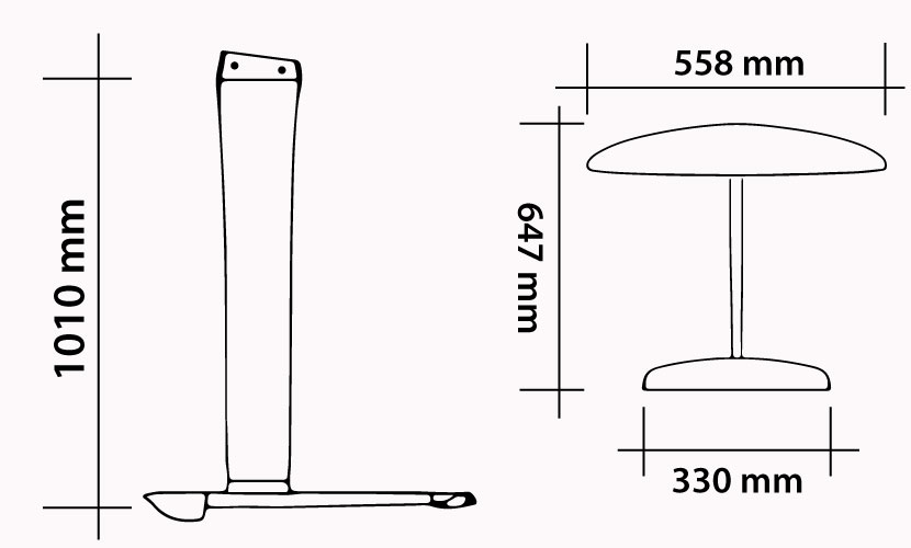 Kit 101 - 558 Carbon Kite Freeride specs