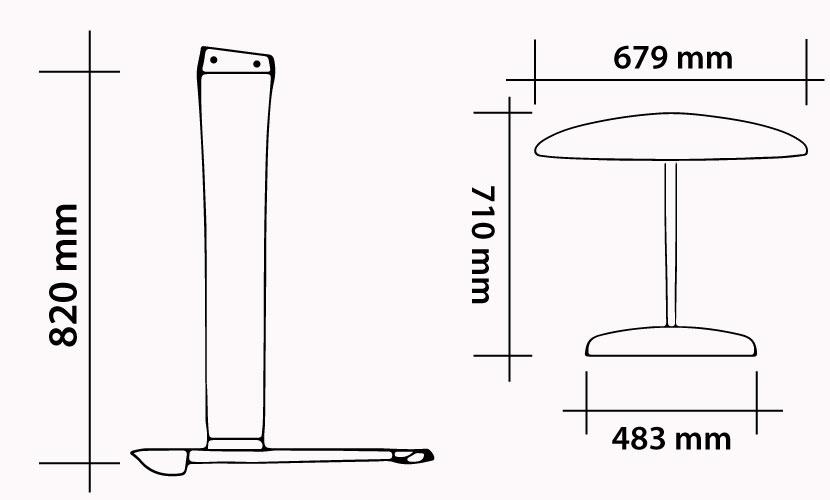 Kit 82 - 679 Carbon Kite Freeride specs