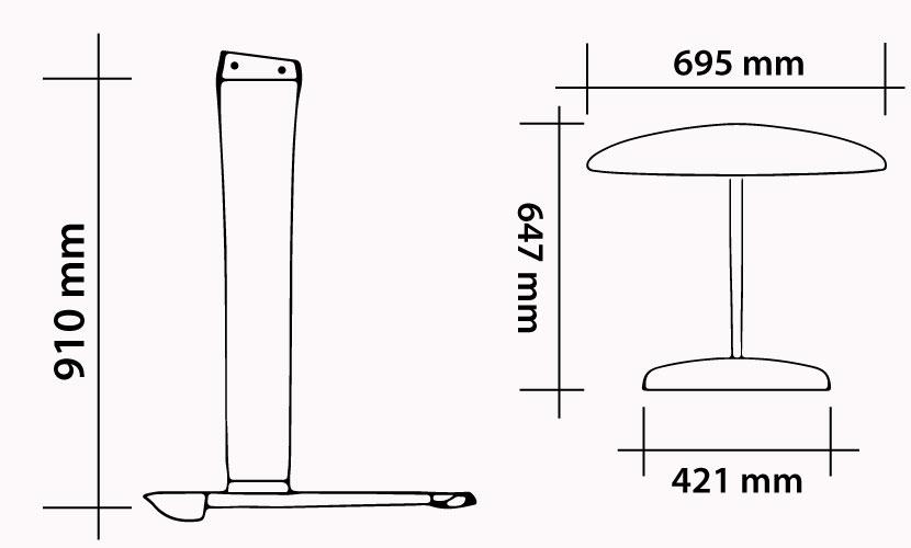 Kit 91 - 695 Carbon Kite Wave specs